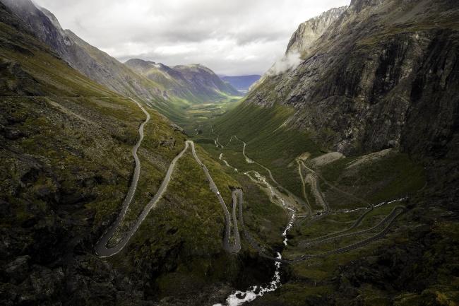 Trollstigen, road, driving, norway, alesund, andalsnes, car, road trip, visit norway, hairpin turns, landscape, geiranger
