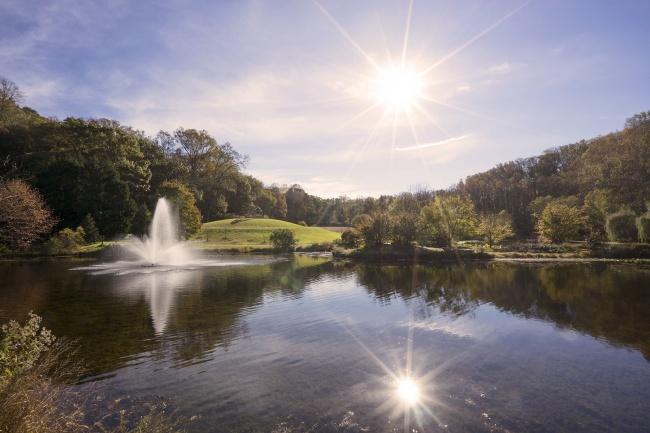 meadowlark botanical gardens, meadowlark gardens, vieena, virginia, va, visit va, nova parks, sun, fall, autumn,