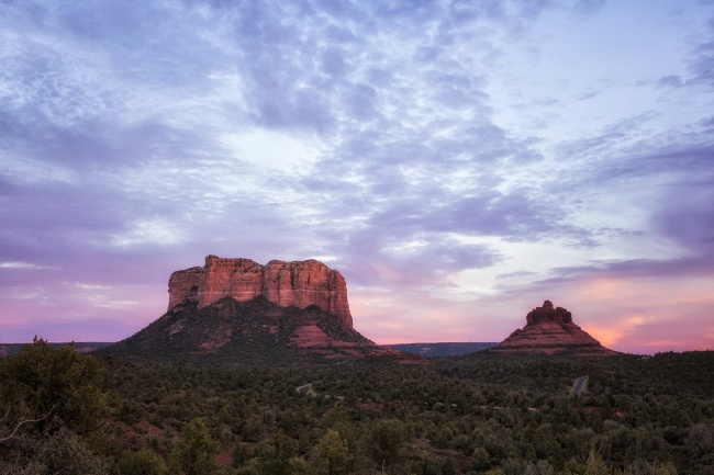 sedona, arizona, southwest, sunset, red rocks, buttes, red rock state park, hiking, visit, travel, az