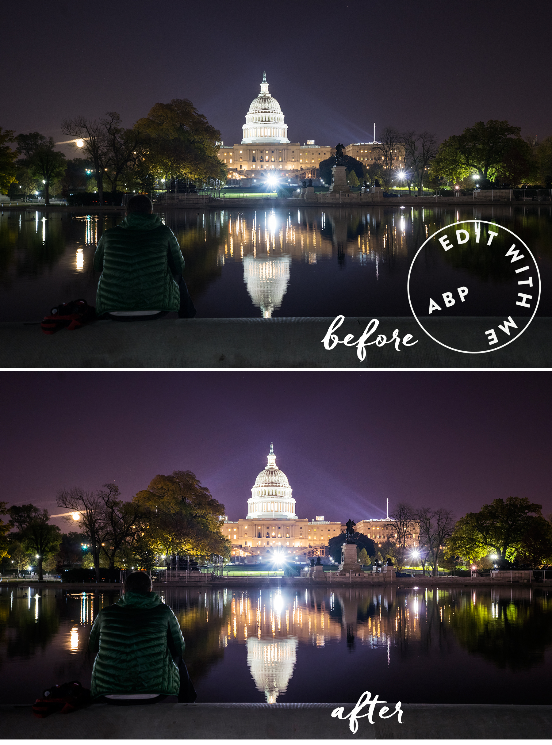 edit with me, photoshop, photo editing, video, tutorial, us capitol, washington dc, angela b pan, abpan,