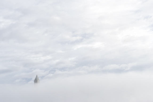washington dc, washington monument, fog, dc, national mall, obelisk, fog, early morning, weather, tidal basin, tip, clouds,