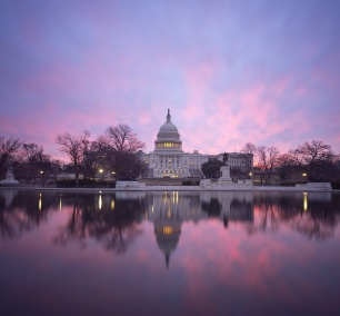 us capitol, early morning, weather channel, app, phone, instagram, reflecting pool, reflection, inauguration, washington dc, sunrise, pink, clouds, mostly cloudy, winter, layers, sleep