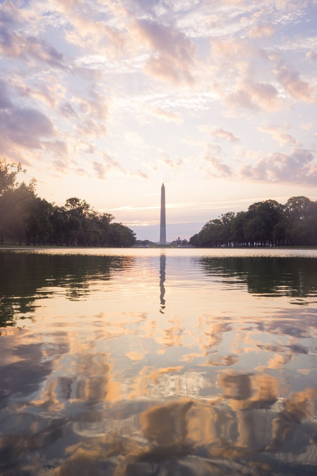washington dc, sunrise, early morning, reflecting pool, washington monument, clouds, creative, photography, photo, fall, national mall, youtube, gear, video, update, early bird,