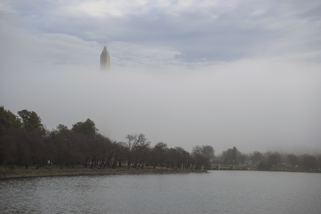 washington monument, fog, early morning, sunrise, washington dc, weather, old post office, drone, airplane, tidal basin, cropping, photoshop, photography, photographer, washingtoninan, grocery store, new issue, tripod, beautiful, memorial, peak-a-boo, blue skies