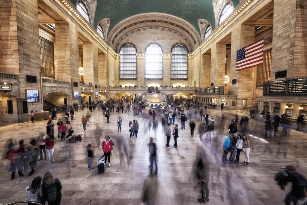 New york city, new york, manhattan, midtown, grand central terminal, train, information, transit, station, transportation, travel, tripod, camera settings, interior, architecture, cameras, photographers, ceiling, people watching