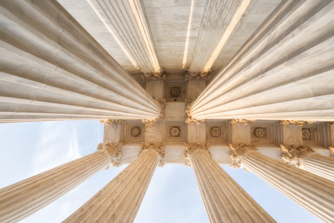 washington dc, supreme court, architecture, looking up, columns, angles, building, marble, justice, government, us capitol, grounds, security, visiting, travel, visit, contrast, sunset, sun