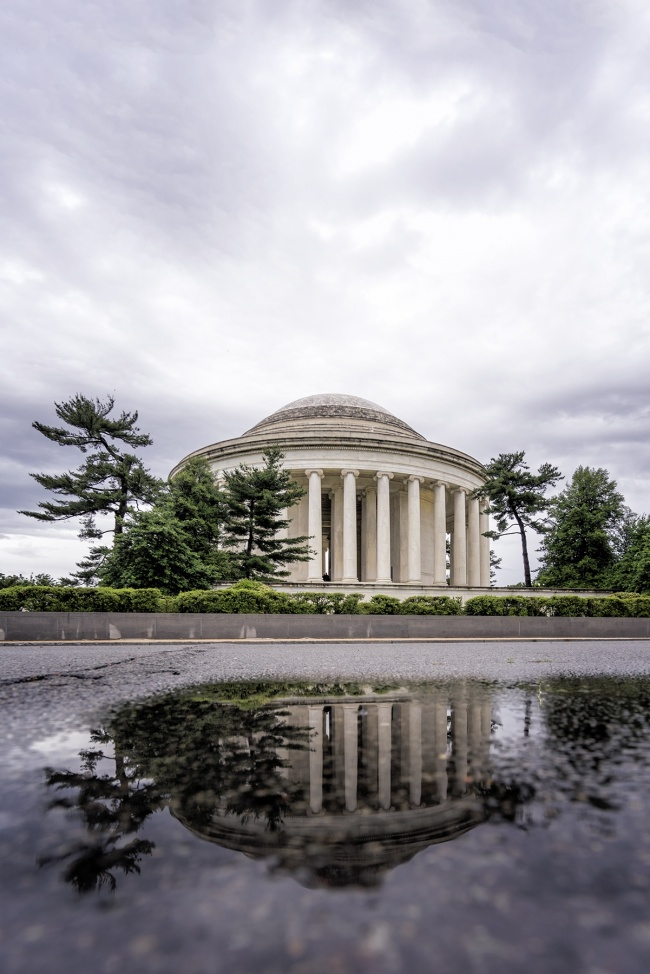 washington dc, jefferson memorial, reflection, clouds, architecture, memorial, national mall, visit, travel, tours, field trip, buses, street, tidal basin, road trip, travel, visit, cityscape, capital