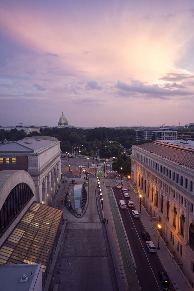 washington dc, sunset, union station, trains, transit, parking, garage, view, us capitol, washington monument, capital, interior, exterior, garage, best, visit, travel, taxi, cabs, clouds, evening