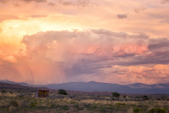 sunset, new mexico, nm, southwest, usa, america, cross country, road trip, ohkay casino, mountains, mountain range, sunset, clouds, shack, santa fe, taos pueblo, tex mex, cheese, elote, drive, road