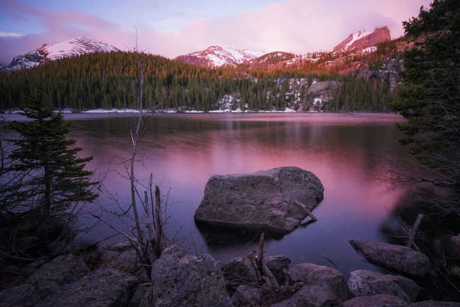 National Park Pass, senior citizens, Colorado, utah, rocky mountain national park, bear lake, pink, sunrise, early morning, hike, visit, travel, national parks, america, usa, co, admissions