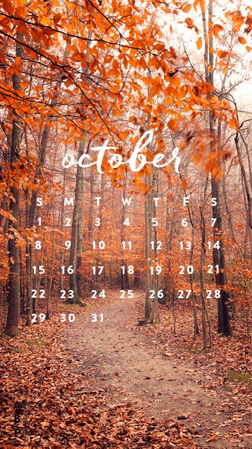October Wallpaper Download_Angela B Pan