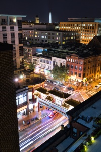 DC Rooftop, penn quarter, rooftop, night, long exposure, chinatown, friendship archway, pod dc, whiskey diner, crimson, view, night, sony, a7ii,