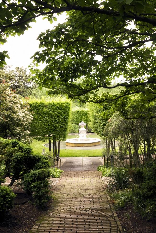 Dumbarton Oaks Garden, georgetown, washington dc, fountain, spring, fall, autumn, travel, visit, hidden gems, new find, garden,