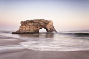 Natural Bridges State Beach, CA, california, northern california, beach, state park, santa cruz, sunrise, sb, state park, waves, water, arch, bridge