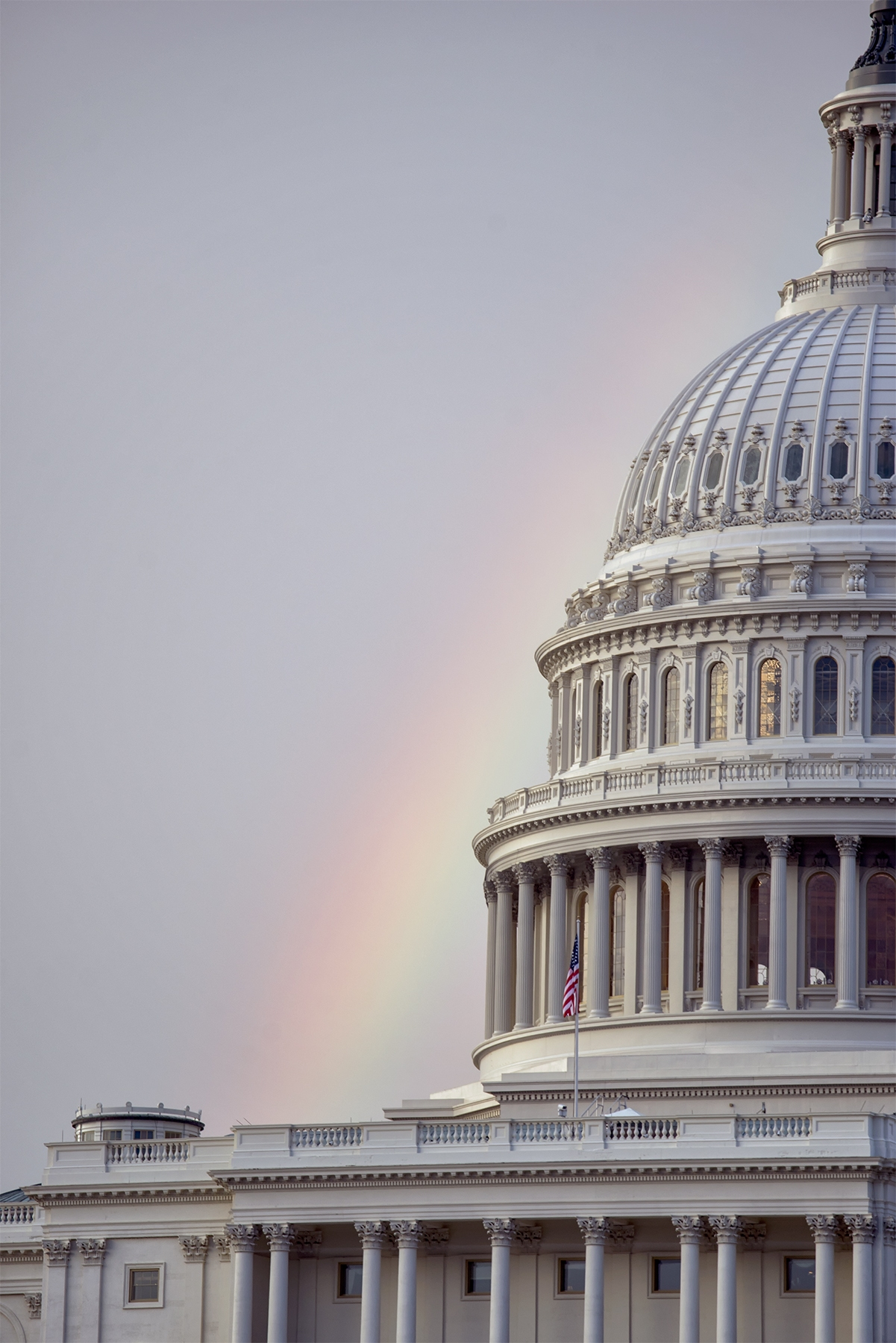 rainbow, us capitol, washington dc, capitol hill, rain, clouds, day, sunset, national mall, dome, 70-200, zoom, close up, architecture, details, washington dc
