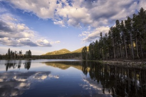 Rocky Mountain National Park, Colorado, co, travel, visit, sprague lake, sunset, mountains, trees, national park, trails, hike,