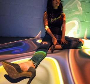 washington dc, artechouse, sw, gallery, exhibit, immersive, sensory, art experience, art exhibit, interactive, auditory, exhibit, spirit of autumn, lava, tie dye, leaf, trees, fall,
