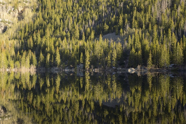 Bear Lake, Rocky Mountain National Park, colorado, early morning, hike, reflection, mirror, visit, travel, co, continental divide, national park, estes park,
