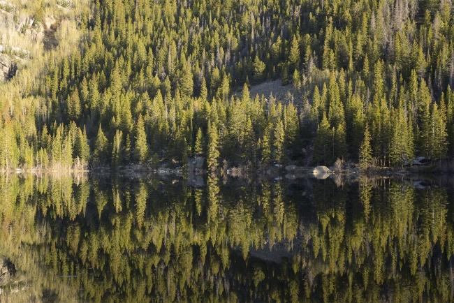 Bear Lake, Rocky Mountain National Park, colorado, early morning, hike, reflection, mirror, visit, travel, co, continental divide, national park, estes park,