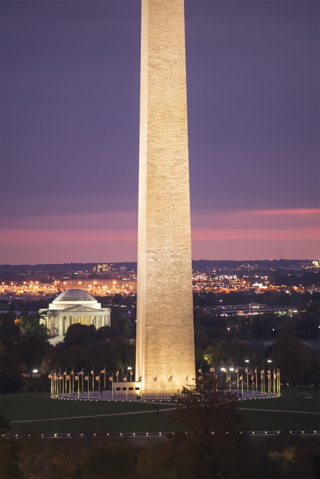 Washington DC Sunset, the district, washington monument, rooftop, jefferson memorial, national mall, thomas jefferson, national airport, reagan, dusk, thanksgiving, giving thanks, grateful, photo, point of view,