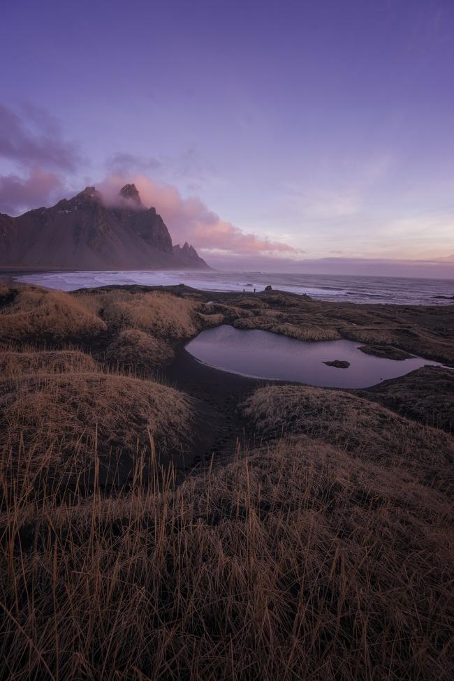 Sunrise, Höfn, Iceland, southeast, hornafjörour fjord, artic, scenic, vatnajökull, europe, glacier, visit, travel, winter