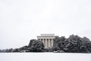 winter, washington dc, snow, lincoln memorial, foggy bottom, untouched, profile, metro, snow, black and white, national mall, national monument, abraham lincoln, driving