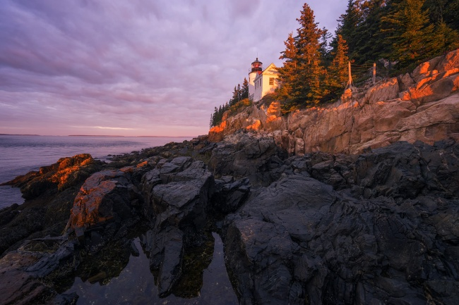 Bass Harbor Head Light, Maine, acadia national park, southwest, bar harbor, sunrise, rocks, cliffs, mount desert island, atlantic coast, blue hill bay,