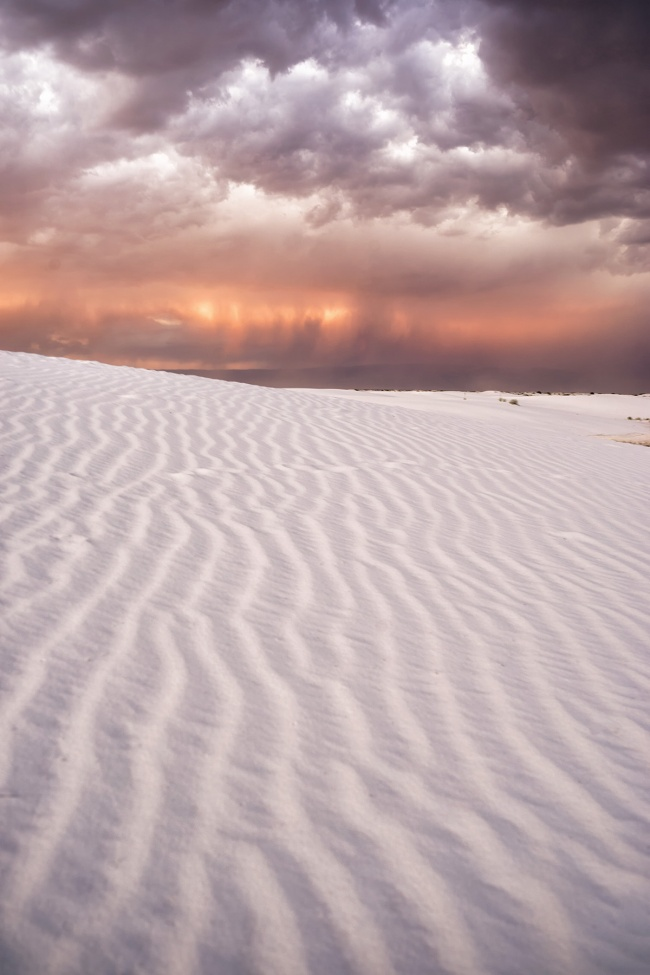 white sands national monument, new mexico, cross country, road trip, sand dunes, northern chihuhuan desert, sand dunes, alamogordo, southwest, sunset, orange, purple, landscape, travel, visit