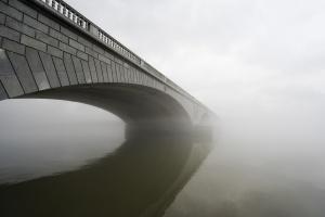 fog, winter, rain, arlington memorial bridge, architecture, landscape, virginia, washington dc, memorials, monuments,