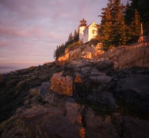 Bass Harbor Light Head, Acadia National Park, Maine, early morning, sunrise, rocks, lighthouse, Mount Desert Island, blue hill bay, travel, east coast, northeast, southwest acadia, national park