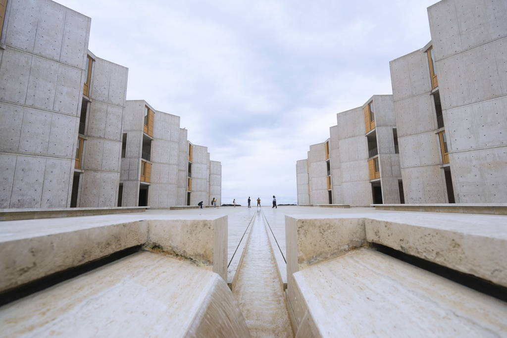 Salk Institute Architecture, salk institute, biological studies, la jolla, san diego, california, architecture, researchers, torrey pines rd,
