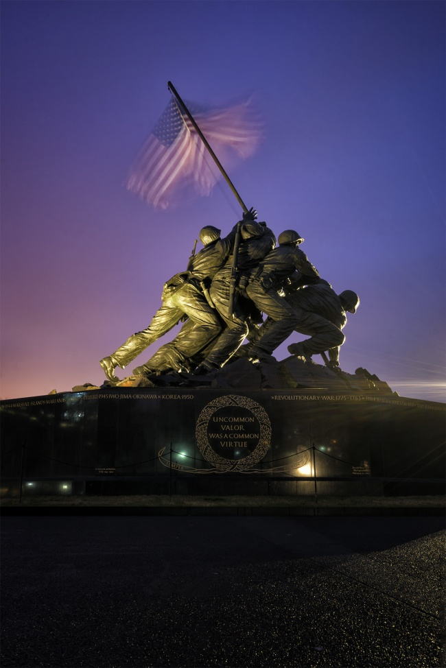 instagram, iwo jima, arlington, memorial, united states marine corps, virginia, sunrise, early morning, american flag, social media, photography, likes, shares, artist, sunrise, colorful