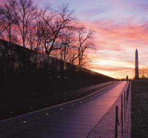 Vietnam Veterans Memorial, Washington DC, sunrise, national mall, armed forces, vietnam war, honor,