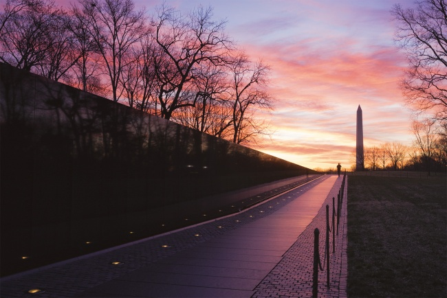 Vietnam Veterans Memorial, Washington DC, sunrise, national mall, armed forces, vietnam war, honor,