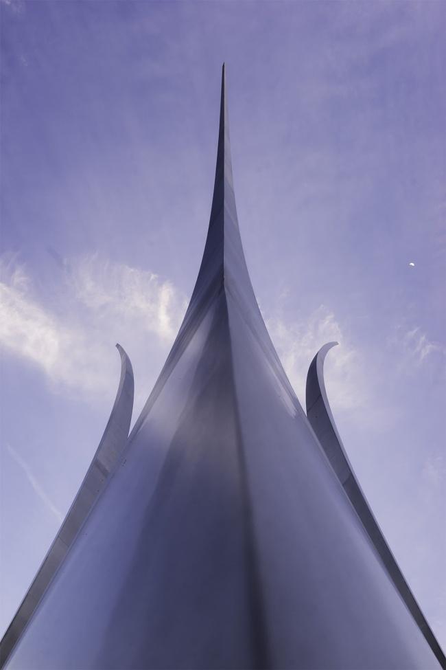 Air Force Memorial, Arlington, virginia, va, United states air force memorial, military, sunset, blue, symmetry, close up