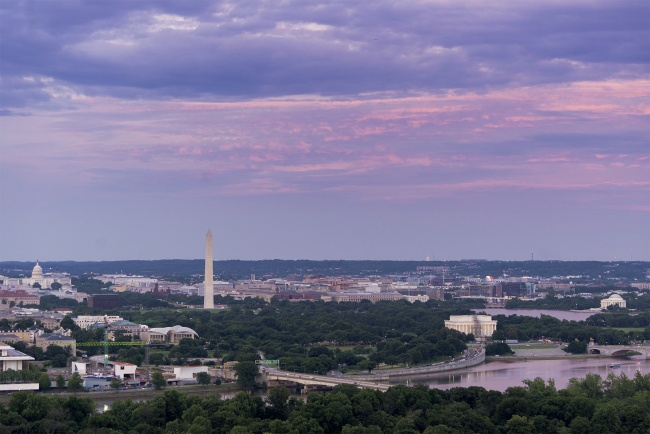 View of DC, washington dc, rosslyn, va, central place, pootie_ting, washington monument, lincoln memorial, jefferson memorial, us capitol, capitol building, national mall, best view of dc, sunset