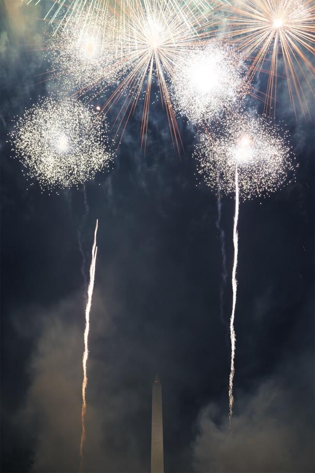 Firework Celebration, washington dc, july 4th, independence day, national mall, reflecting pool, washington monument, fireworks, night, long exposure, holiday, east coast, america,