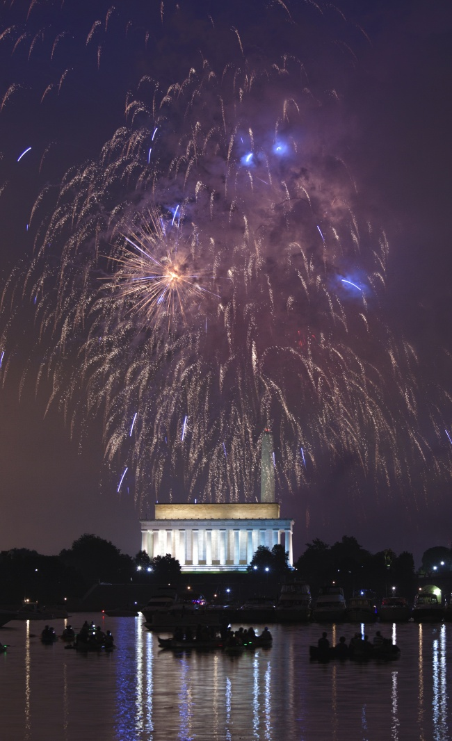 4th of July, indepdence day, 4th, july 4th, fireworks, washington dc, memorial bridge, lincoln memorial, national mall, washington monument, how to photograph fireworks, evening, night, gw parkway