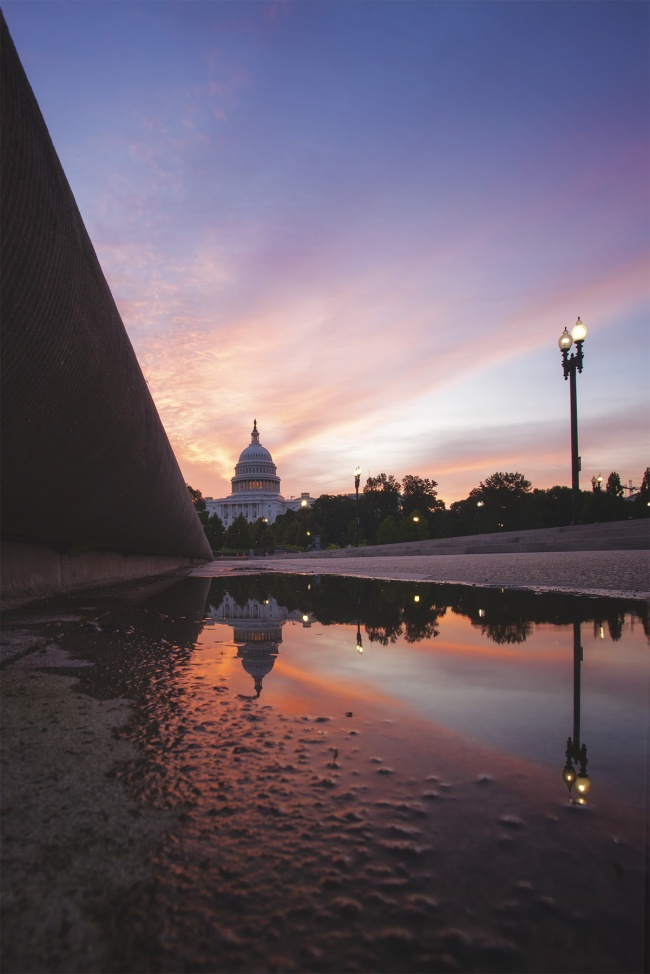 Capitol Building, washington DC, us capitol, sunrise, reflection, puddle, capitol hill, early morning, reflecting pool, traffic, architecutre, photography, photo, national mall, things to do