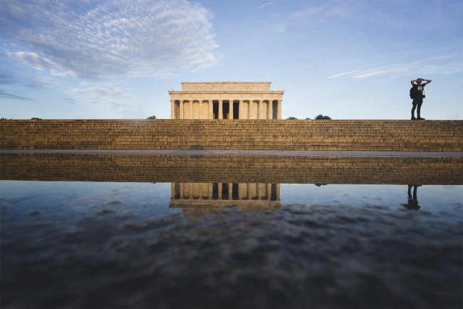 Lincoln Memorial, National Mall, washington dc, reflection, puddle, early morning, photographers, monuments, memorials, things to do,