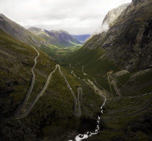 Trollstigen, road, driving, norway, alesund, andalsnes, car, road trip, visit norway, hairpin turns, landscape, geiranger