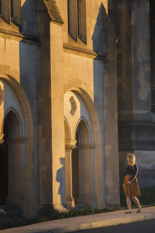National Cathedral DC, portrait session, warm sunlight, sunset, saint peter, saint paul, episcopal chuch, washington dc, wncathedral, wisconsin ave, architecture,