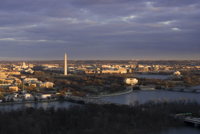The View of DC, rosslyn, virginia, va, arlington, ceb tower, observation deck, best view, washington dc, washington monument, lincoln memorial, jefferson memorial, us capitol, institute of peace
