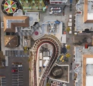 Belmont Park, San Diego, california, southern california, socal, rollercoaster, rides, amusement park, beachfront, amusement park, mission bay, mission beach, mission beach amusement center, dji, drone, mavic pro