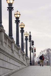 Union Station Washington DC, street photography, light posts, street signs, holidays, washington, train station, us capitol, amtrak, wmata,