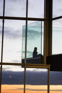 Washington DC Observation Deck, ceb tower, observation deck, rosslyn, arlington, virginia, va, sunset, view, interior, architecture, windows,