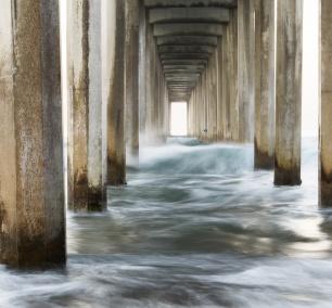 Scripps Pier, La Jolla, San Diego, sunrise, california, scripps beach, ellen browning scripps memorial pier, scripps institution of oceanography, uc san diego,