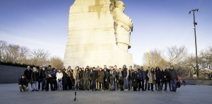 Washington DC photography community join together to walk around the Tidal Basin on Saturday February 2nd at sunset.