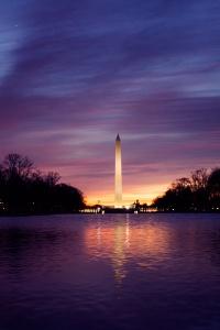 washington dc, national mall, reflecting pool, washington monument, sunrise, cloud
