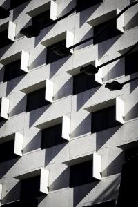 Fremont Street, las vegas, nevada, architecture, line, shadow, black and white,